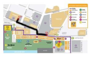 Map to the booth of George Rodez 2011 Coconut Grove Art Festival